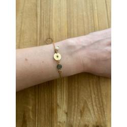 Bracelet soleil nacré